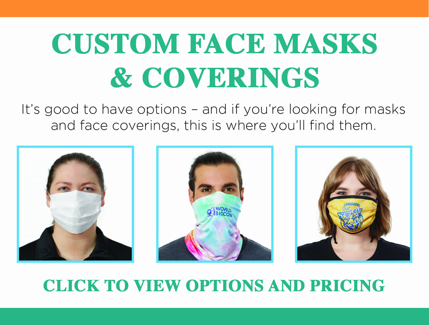 Face coverings specifications